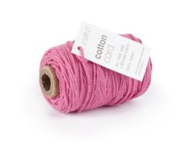 CE501043/0211- 50 meter Vivant katoen koord 2mm zuurstok roze