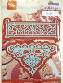 0002544- Marianne Design Creatables stencil nr.278 Petra's Fence - hek 11.5x4cm OPRUIMING