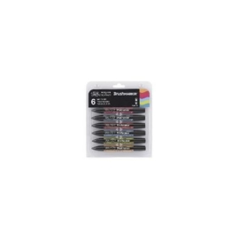 JOY-C0290033- Winsor & Newton brushmarker 12 stuks mild tones