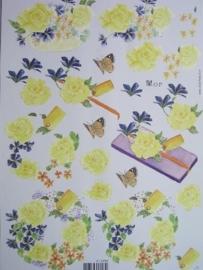kn/579- A4 Mop knipvel AANBIEDING bloemen