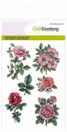 CE130501/1241- Craft Emotions clearstamps A6 - botanical rose garden
