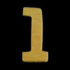 8735 635- 4cm houten cijfer 1