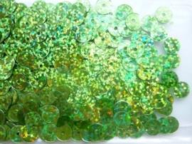 118372/453- 10gram gladde pailletten van 8mm in glitter lichtgroen (grote hoeveelheid!)