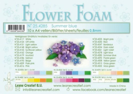 CE800205/4285- 10 sheets flower foam sheets A4 - zomerblauw
