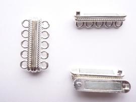 CH.289- zeer krachtige magneetsluiting voor 5 rijen draad 33x17x7mm - SUPERLAGE PRIJS!