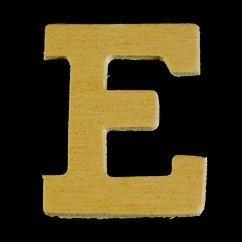 8735 610- 4cm houten letter E