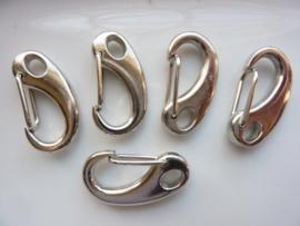 CH.340- 5 stuks sleutelclips / sluitingen 32x17mm