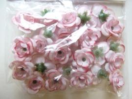 7611 200 - 24 stuks roosjes van ca. 2 cm.
