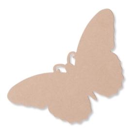3270 330- 6 stuks MDF XL vlinders van 25x13cm