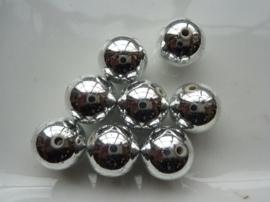 2262- 8 stuks kunststof kralen van 15mm zilverkleur - SUPERLAGE PRIJS!