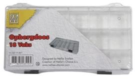 CE890002/7001- Nellie`s Choice vakkendoos met 18 vakken 20x10.5cm