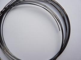 Memory Wire metaal spiraaldraad 1mm extra dik  voor veercollier ca.10 wikkels 12-15cm antraciet