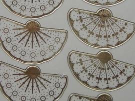 st565- borduursticker waaier goud
