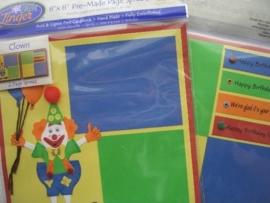 5491- Just Finger embellishments page kit feest 2 pagina`s van 20x20cm