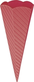 KN204869924- 5 stuks XL puntzakken van golfkarton met reliëf 41cm rood