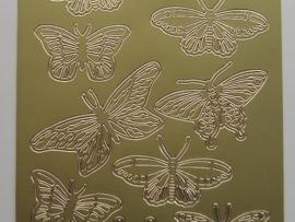 524 HT- sticker diverse vlinders