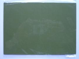 08101- 5 x luxe dubbele kaarten gerild standaard formaat donker mosgroen 10.5x14.8cm SPECIALE AANBIEDING