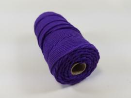 CE890030/3208- 43 mtr katoen macramé touw spoel 2mm 100grs - paars