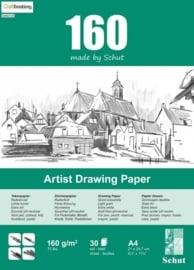 CE114981/1530- 30 vel Schut artist drawing paper 160grams A4 tekenpapier
