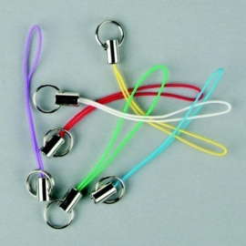 6 x telefoon hangers gekleurd 117453/7803