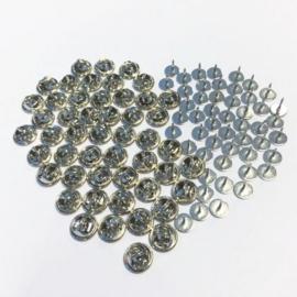 CE431003/7511- 50 stuks stitch pins van 8mm zilverkleur