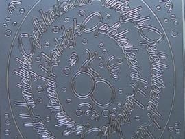 591- hartelijk gefeliciteerd ovaal zilver 10x20cm