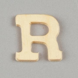 006887/1376- 2cm houten letter R