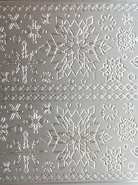 ST.1129- ijskristallen zilver 10x20cm