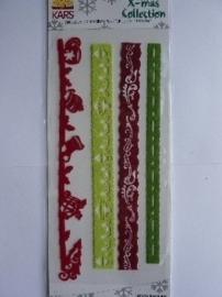 5797- Make Me christmas collection vilten stickers randjes OPRUIMING