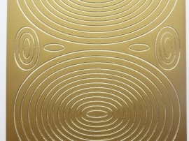 ST.1145- sticker met ovalen goud 10x20cm