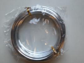 5 meter aluminiumdraad (Wire&Wire draad) van 3mm dik zilverkleur