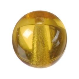 2222 799- 40 stuks glaskralen bohemisch topas van 8mm in een zakje