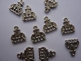 CH.067- 10 stuks metalen verdeelstukken van 1 naar 3 rijen 13x15mm