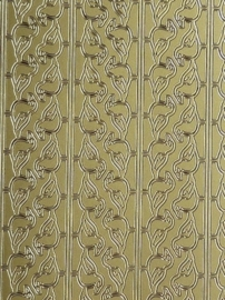 st975- stickervel met randjes van zeemeeuwen 10x23cm goud