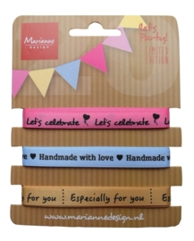 CE000028/1406- Marianne Design party product ribbons set - PP1406
