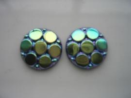 2 x glasstenen 18x3.6mm 5120-676