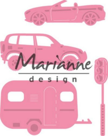 CE115638/1435- Marianne Design collectables village decoration set cars