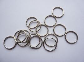 15 x enkele ringetjes van 13mm staalkleur - SUPERLAGE PRIJS