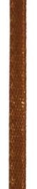 006302/0256- 4.5 meter satijnlint van 10mm breed op een rol lichtbruin