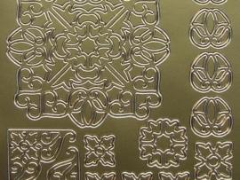 247- ornament sticker goud 10x20cm