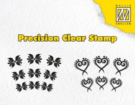 CE130510/1622- Nellies Choice precission clearstamp exotic flower heart APST022