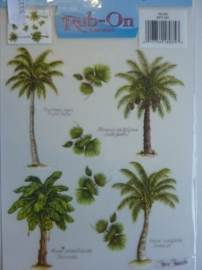 05337- Rub-ons palmbomen 18x27cm OPRUIMING