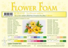 CE800205/4155- 10 sheets flower foam sheets A4 - zonnebloemgeel