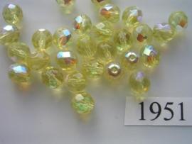 20 stuks 8 mm AB kristal  1951