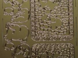 278- zeehondjes goud 10x20cm