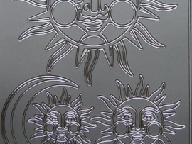 st 241- diverse afbeeldingen zilver 10x20cm