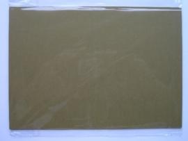 08102- 5 x luxe dubbele kaarten gerild standaard formaat bruingroen 10.5x14.8cm SPECIALE AANBIEDING