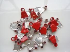 SLK210.C- 40 stuks snaps eyelets kerstklok rood OPRUIMING