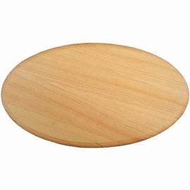 CE811706/2414- houten paneeltje ovaal 24.8x14.2cm