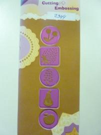 0002344- Joy0076- stencil 5 buttons van 2.5x2.5cm OPRUIMING